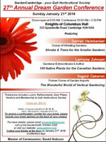27th. Annual Dream Garden Conference - Vendors wanted