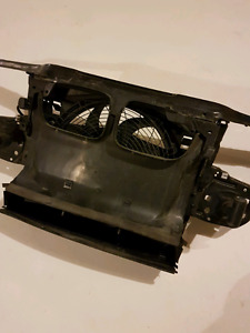 BMW 320i radiator support craddle and fan