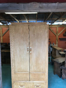 RATTAN cupboard 24x36x71 inches