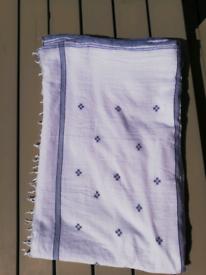White cotton sari