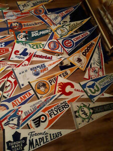 Sports banners from the 80s