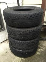 Set of four - Michelin HydroEdge 205/70/R15 all seasons tires