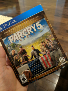 far cry 5 gold edituon witg steel case and added bonus gameplay