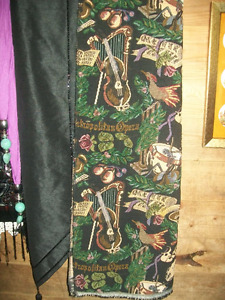 Musical Instruments on Upholstery Fabric