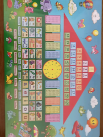 Learn and play table for kids.