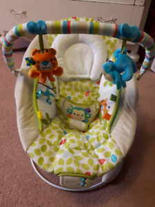Vibrating musical baby chair