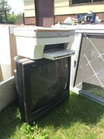 Free tv, printer, other household goods