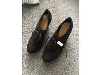 Brand new black suede shoes size 5