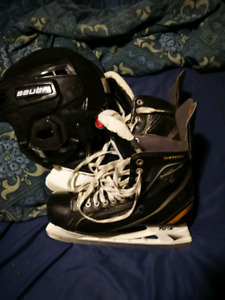 Bauer skate and helmet