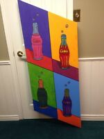 Andy Warhol-inspired Coca Cola Painting