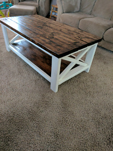 X pattern coffee table