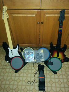 PS3 Guitars and Drum