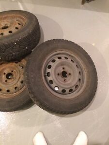 Winter tires on 4 bolt steelies Cambridge Kitchener Area image 1