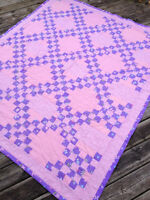 Peggy's Purple and Pink Quilt - Great for a twin bed