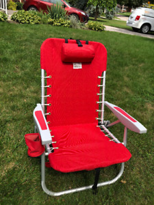Premium Low-Back Folding Chair for concerts or beach.