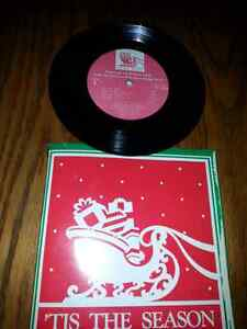 VINTAGE 45 RECORD WITH 8 CHRISTMAS SONGS X-COND$5.00