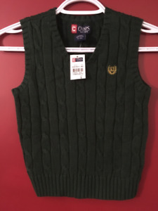 CHAPS Boy's Green Sweater Vest - Size 5 - Brand new!