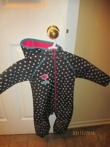 Softshell hooded one piece suit - 18 months