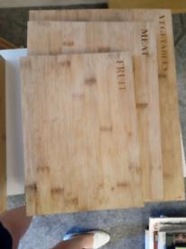 SALTER Bamboo Chopping Boards