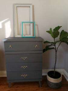 4 Drawer Dresser painted in Soapstone by Fusion