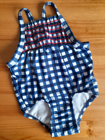 Never worn 6-9m blue checked Cat & Jack baby girl swimsuit