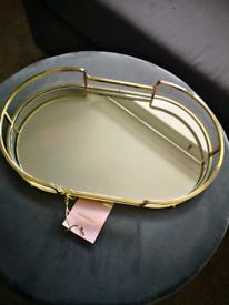 NEW Gold mirror tray