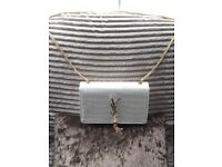 Yves Saint Laurent white bag