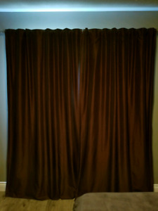 Luxurious blackout curtains - silk feel + blackout fabric layer