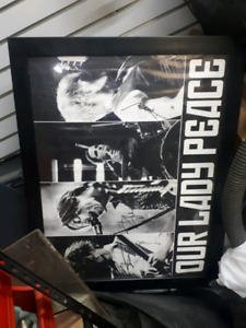 Our lady peace framed and autographed poster