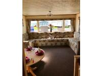 Large 6 berth static caravan on the Ayrshire coast at Sandylands