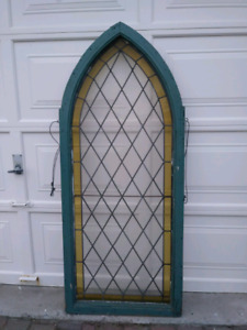 Antique Old Church Window Stained Glass