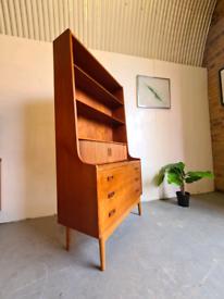 Danish Mid Century Desk Bookcase Borge Morgensen