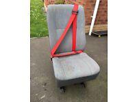 Vw t4 t5 single rear seat
