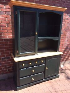 Hutch Green and natural wood color