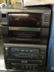 SHARP Tape Cassette Player, CD Player Audio System $29
