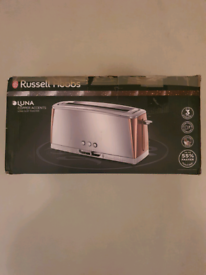 Brand new russell hobbs luna copper toaster