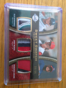 2008 UPPER DECK TRIPLE MEMORABILIA PATCH CARD #16/25