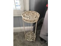 Iron side table/ plant table.