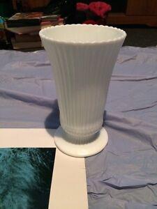 White vase glass