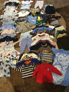 Large lot of Boys 0-6 mo Clothes