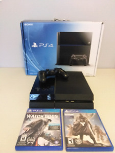 PS4 with Controller, Destiny and Watch Dogs