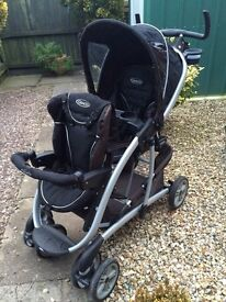 Graco duo double pushchair (twins) need gone ASAP offers welcome pram