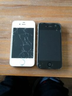 iPhone 4S white and iPhone 4 Black UNLOCKED Freeling Gawler Area Preview