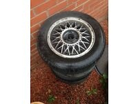 "Bbs alloys 14"" with tyres"