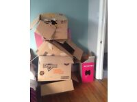 Free boxes for moving or storage