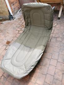 Bedchair, rod bag and barrow bag