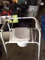 Commode chair and Raise toilet seat.