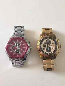 Gold Plated Invicta Watch & SS Curren Watch