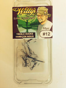 Treble Hooks #12 - Buy in Quantity - SAVE $$$ - Fishing Tackle
