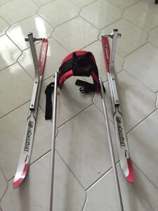Chariot stroller skis and harness